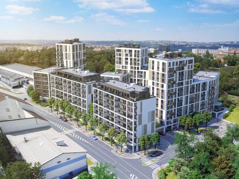 Bytový projekt Na Vackově nabízí vdalší etapě přes tři stovky moderních metropolitních bytů